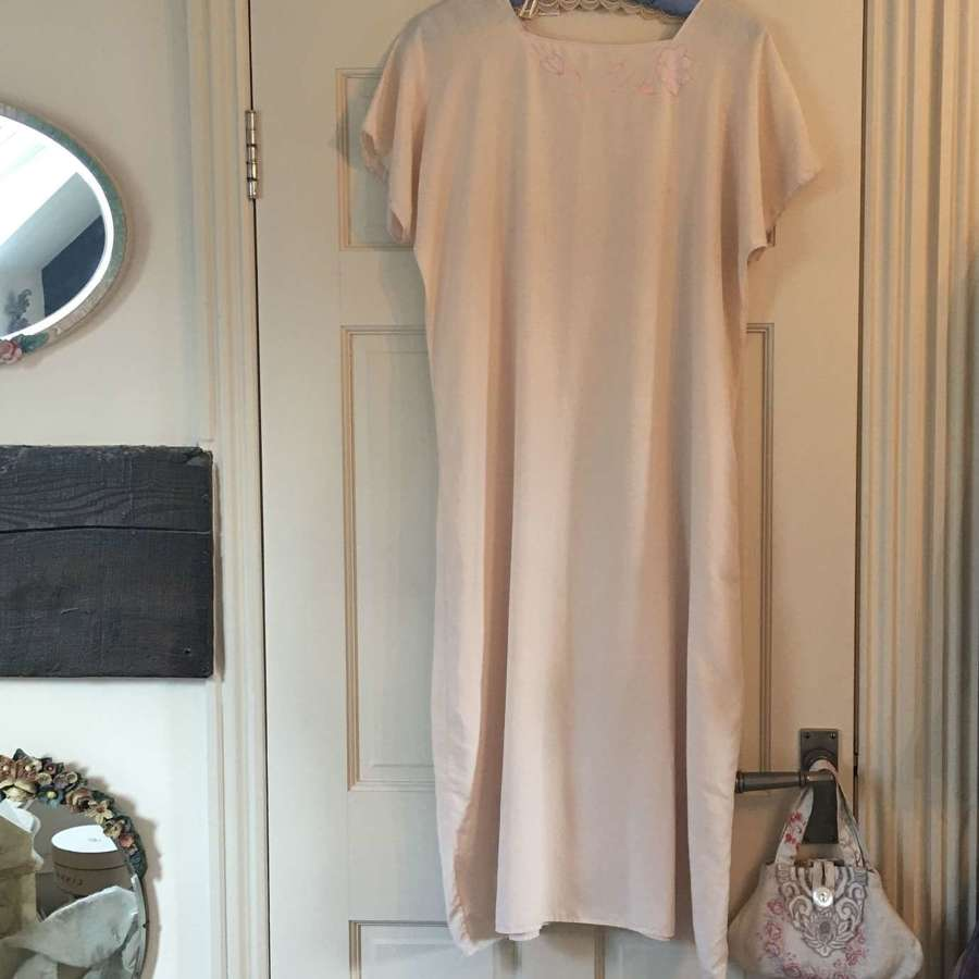 1920s blush silk day dress/night dress