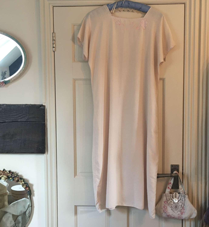 1920s blush silk day dress/night dress