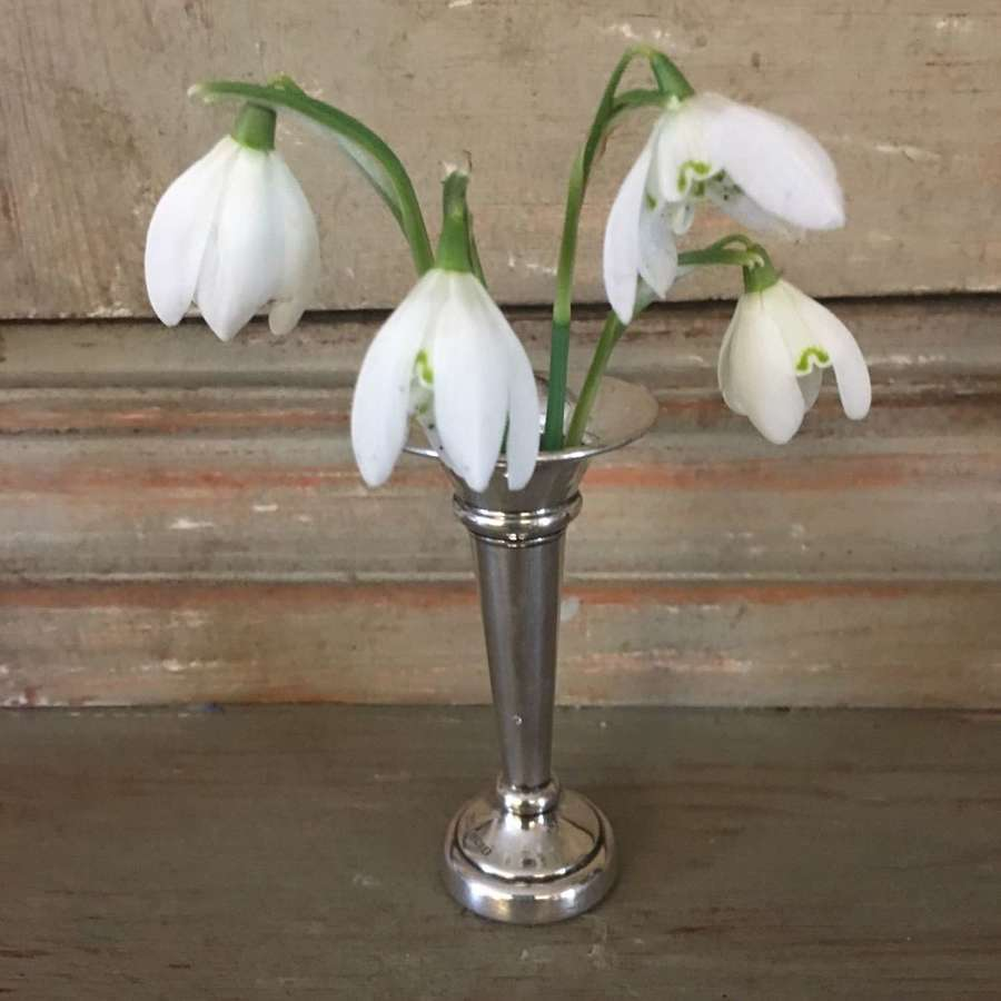 Hallmarked 1974 sterling silver vase