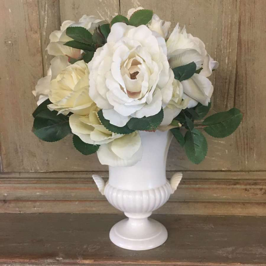 Vintage cream Wedgwood urn vase