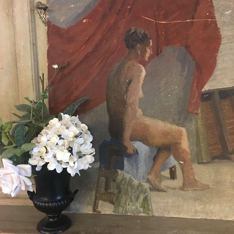 Vintage black Wedgwood urn vase