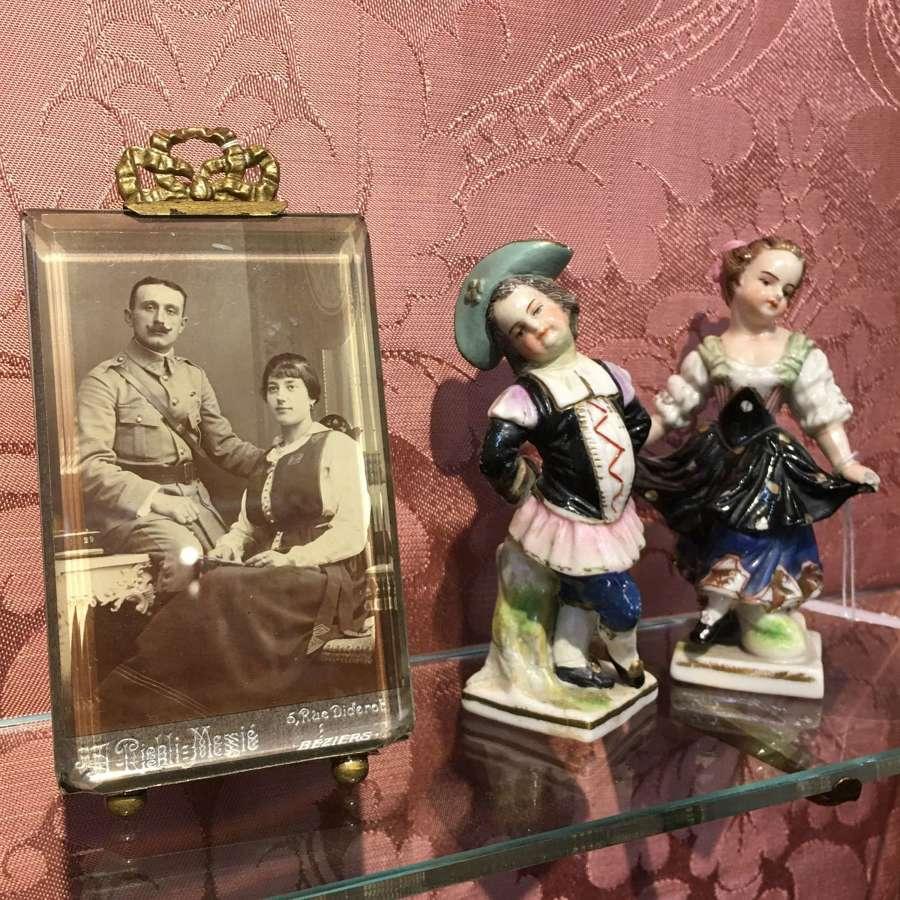 Antique Samson of Paris boy and girl figures