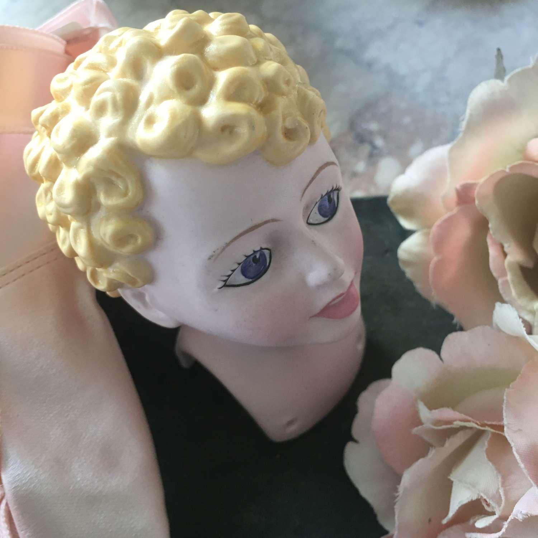 Vintage Royal Doulton sample china doll's head