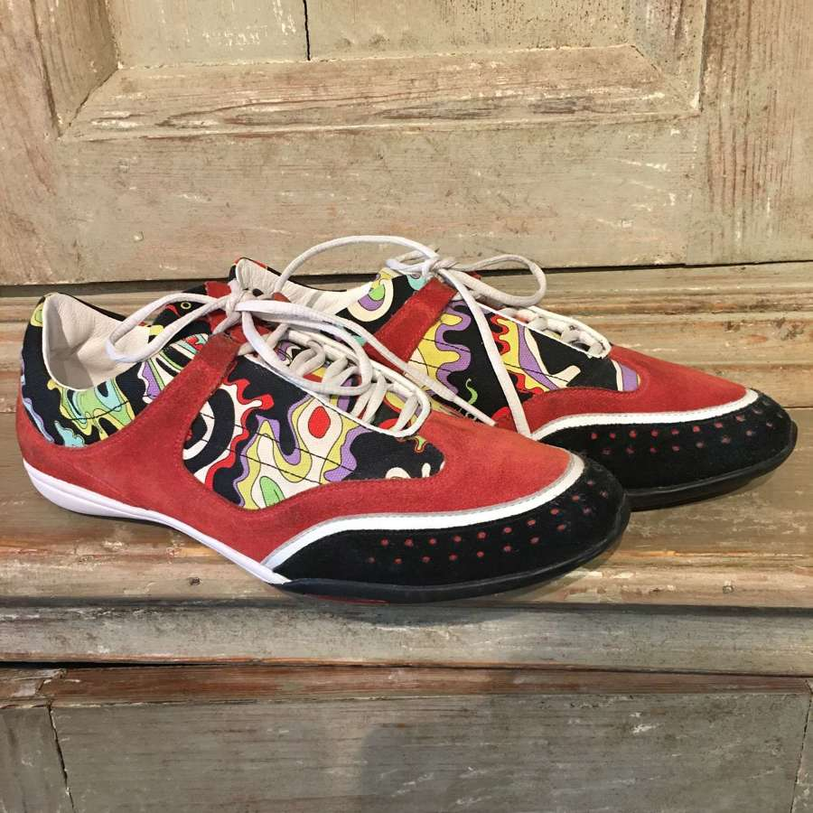 Emilio Pucci leather lined trainers size UK 7