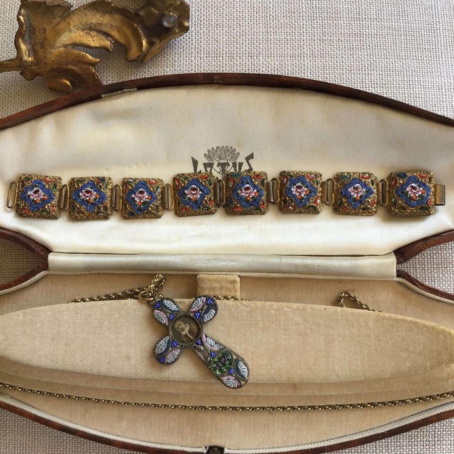 Vintage mosaic bracelet