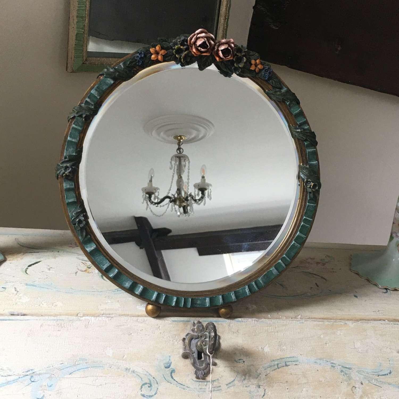 Round Barbola mirror c 1930s