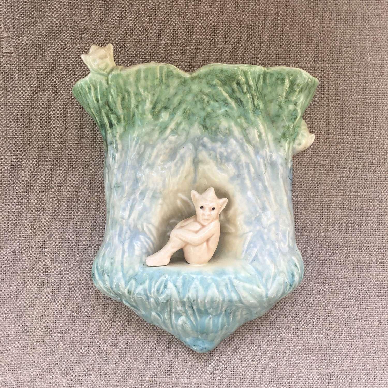 Sylvac 1930s pixie wall vase