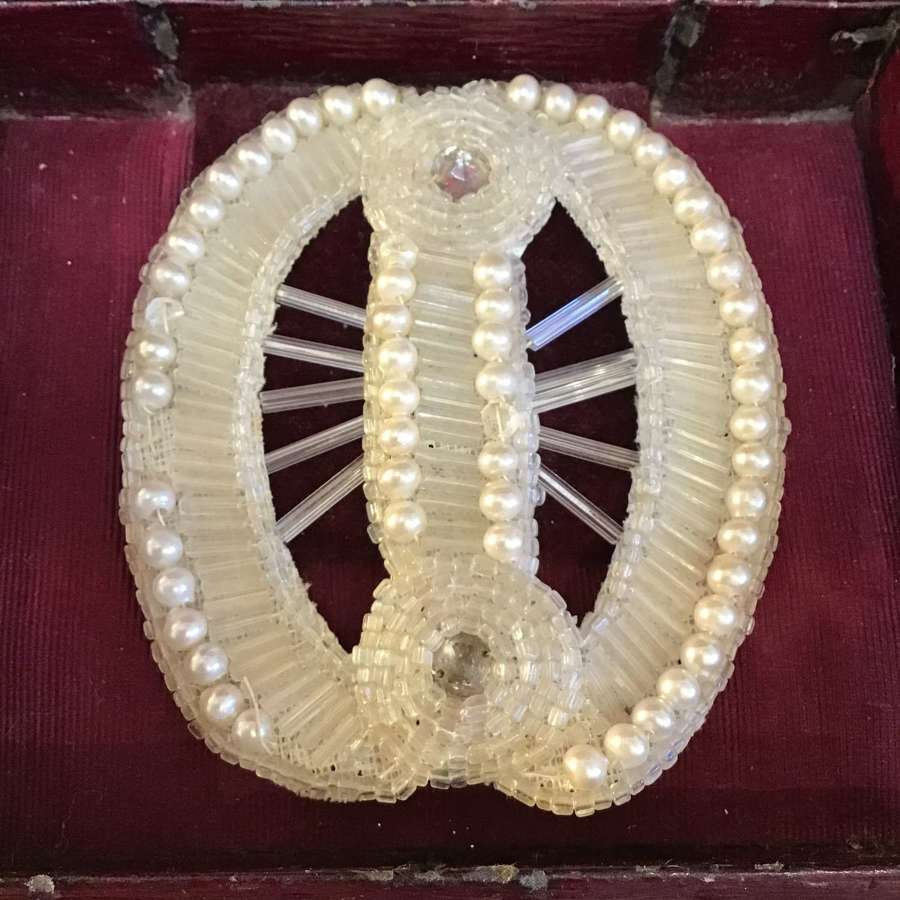 1920s pearl and beaded dress ornament