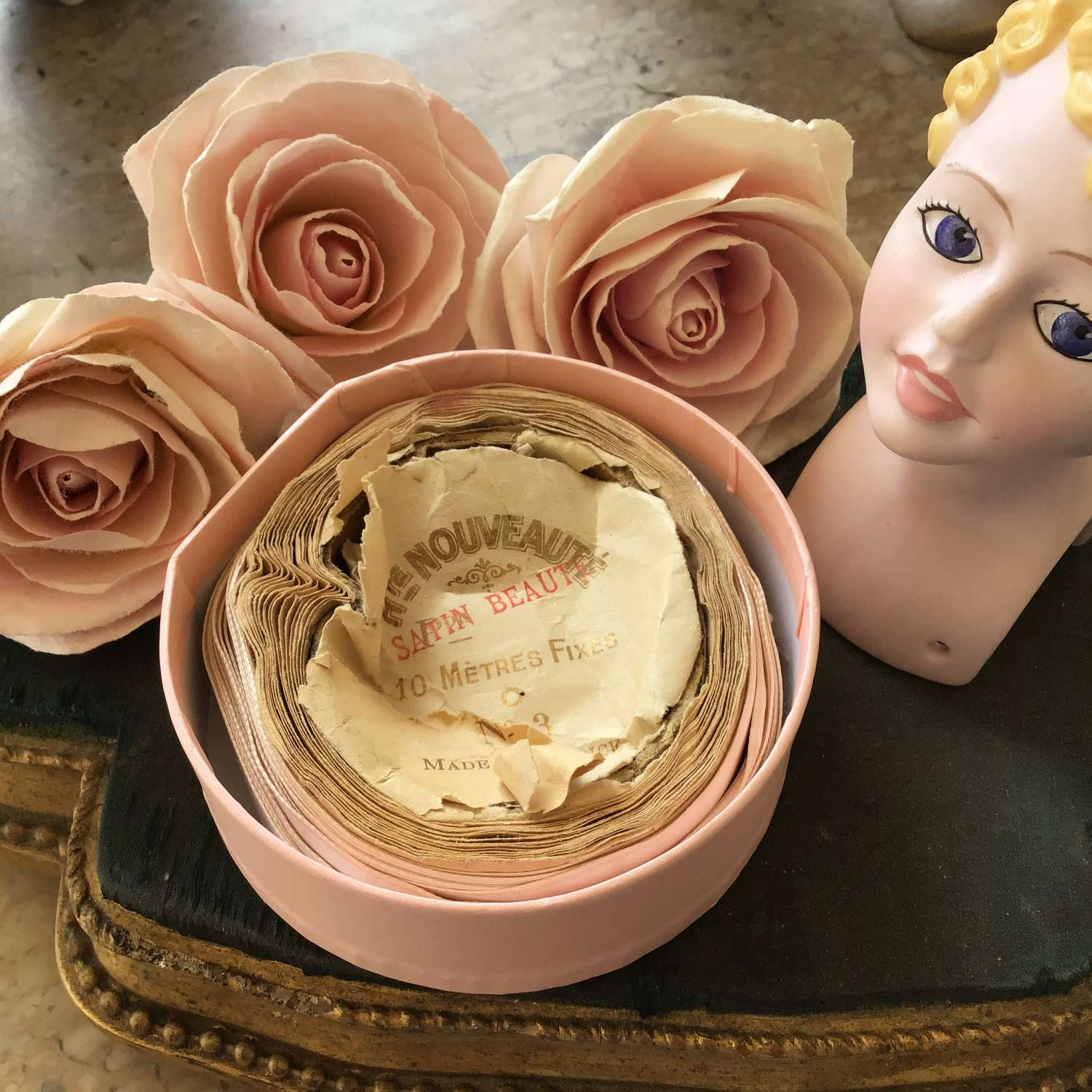 Old French pale pink ribbon