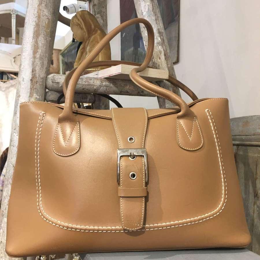 Francoise  camel Leather handbag by Carvela