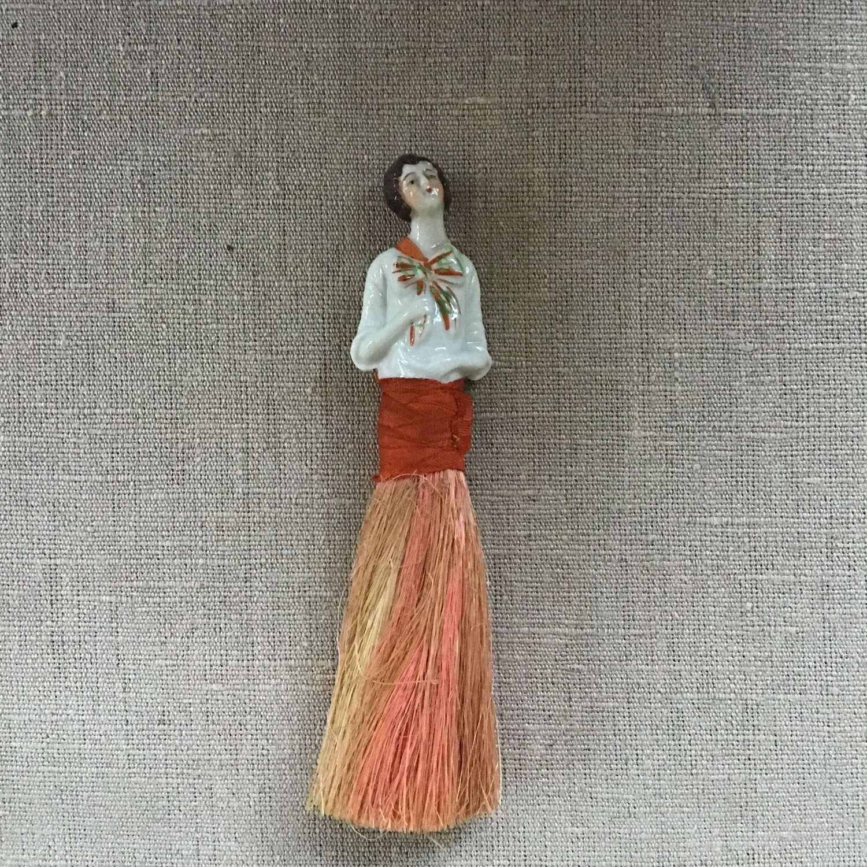 Decorative vintage pin dolly brush