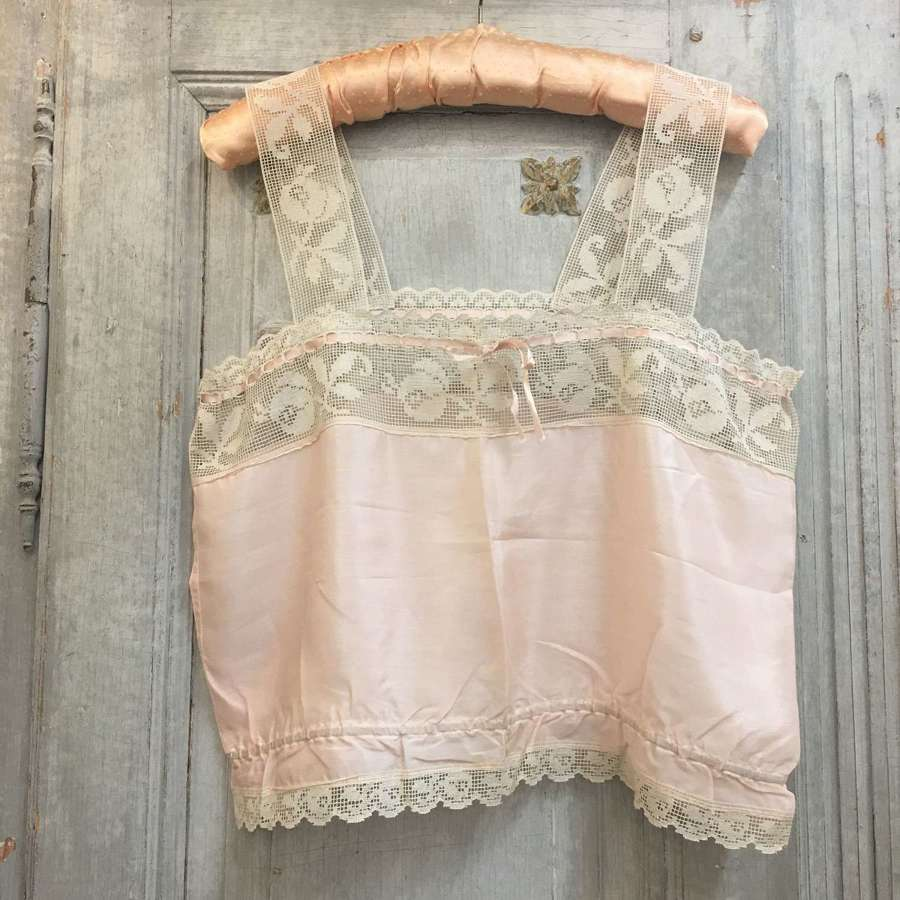 """Vintage silk and lace camisole 38""""/97cm chest"""
