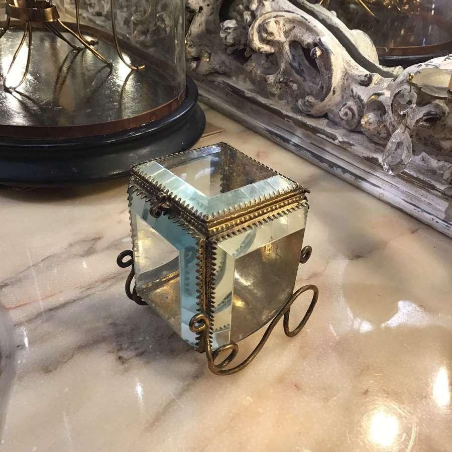 Antique French jewellery sleigh vitrine c1900