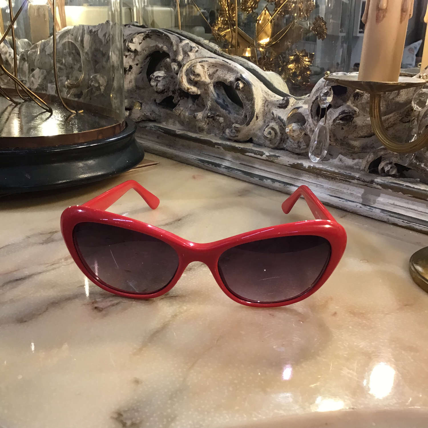 Vintage style new cats eye red sunglasses