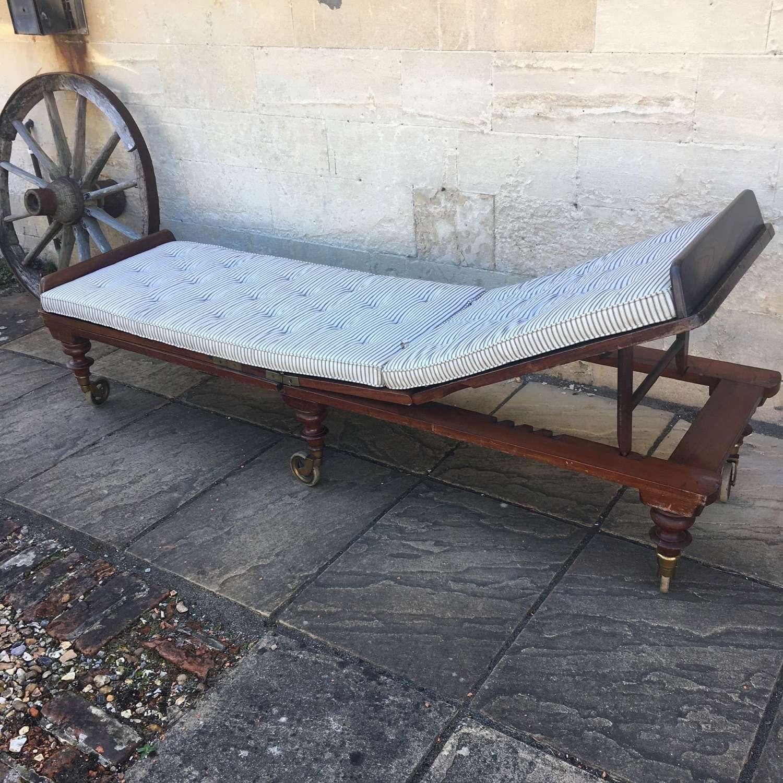 Mahogany campaign bed c1870