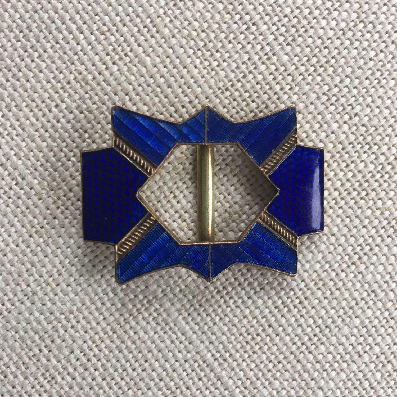 Art Deco blue enamel buckle
