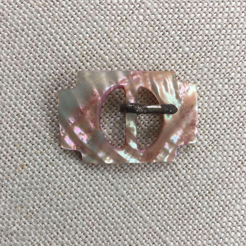 Pale pink mother of pearl vintage buckle